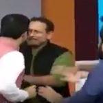 न्यूज चैनल के डिबेट के दौरान भाजपा और सपा प्रवक्ता आपस में भिड़े